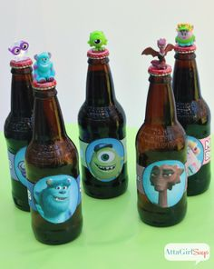 0c3a60e3fa4 Monsters University Root Beer Bottle Printable Monster Inc Party