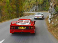 Ferrari F40 & Porsche 959. Two of my faves growing up, in the same shot.