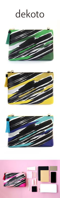"""Cool Clutch - Carry it as a clutch, or attach an optional chain. With its 2.75"""" depth, you can carry all of your essentials.  It instantly bejewels any simple ensemble you already own !  https://www.etsy.com/listing/470093756/clutch-bag-handbag-brush-pattern-printed?ref=shop_home_active_6"""