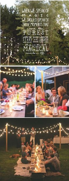 Super Ideas For Backyard Lighting Summer Nights Outdoor Parties Outdoor Party Lighting, Backyard Lighting, Outdoor Parties, Lighting Ideas, Garden Parties, Summer Parties, Le Diner, Super Party, Party Lights