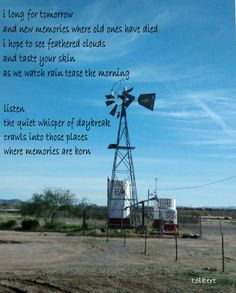 windmills don't do much on windless days and with no rain in sight and only a thin streak of clouds there is nothing left to do but wish