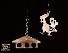 گوشواره خروس و مرغدانی