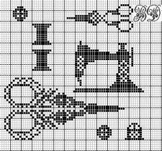 Sewing cross stitch motifs