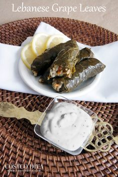 Similar to the recipe for my Lebanese Chicken Shawarmas, this recipe is adapted from the grape leaves sold at an authentic Lebanese restaurant in Calgary. These are lighter than the most common Lebanese grape leaves which typically have meat such as lamb included. These grape leaves are slightly sour so I recommend pairing them with my white sauce, the recipe for which is available over on the Chicken Shawarma post.