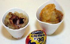 Deep fried Cadbury eggs