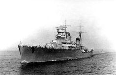 Soviet cruiser of project 26-bis Maxim Gorkiy, Baltic sea