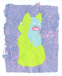"""Repeated Exposurez /  Airbrush on handmade paper, 8.5 x 11"""" unframed, 14 x 16"""" framed, 2013"""
