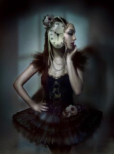 My mind's self portrait at this point in time. TIC TOCK, TIC TOCK. Clockwork by Diana Dihaze.