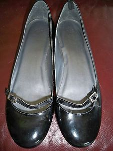 Gap Patent Leather Mary Jane Strap Flats