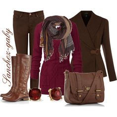 Chic Brown Outfit Idea for Winter - Styles Weekly Mode Outfits, Casual Outfits, Fashion Outfits, Womens Fashion, Fashion Trends, Skirt Outfits, Fashion 2017, Fashion Ideas, Casual Wear