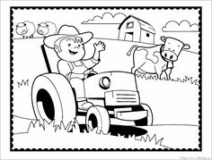otis tractor coloring pages