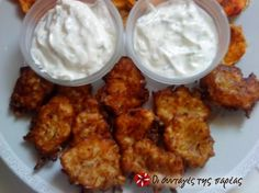 Zucchini fritters with feta cheese - A delicious summer side dish. Greek Appetizers, Greece Food, Zucchini Fritters, Summer Side Dishes, Recipe Images, Vegetarian Cheese, Greek Recipes, Different Recipes, Feta