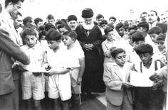 Assyrian School of Kirkuk - Assyrian school children welcoming his beatitude Mar Yousip to the newly bought Assyrian school building.