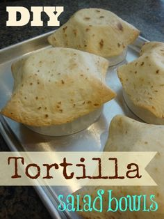 You can make these Tortilla Bowls #glutenfree with Udi's GF Flour tortillas! #WhatTheHack
