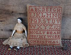 Molly Bean Christmas Sampler...Primitive Cross Stitch Pattern By The Humble Stitcher
