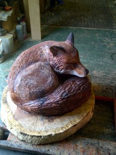 Chainsaw Carving Gallery | Fox Sculpture