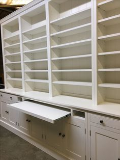 This Made to Measure unit also has a pull out desk. Get in touch to see what we can do for you. www.cobwebsfurniture.co.uk