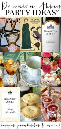 TONS of fun Downton Abbey Party Ideas to throw your own premiere or viewing party!