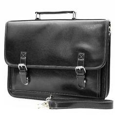 Amazon.com: Retro Classic design men's professional business briefcase messenger bag (black): Office Products