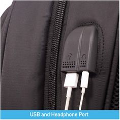 Anti-Theft Travel Business Backpack with USB Charging Port and Headphone Port, Water Resistant School Rucksack for Men and Women fits inch Laptop, Black Business Laptop, Business Travel, School Bags For Boys, Anti Theft Backpack, Laptop Backpack, 6 Inches, Backpacks, Amazon