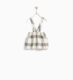 Image 5 of CHECK SKIRT WITH BRACES from Zara