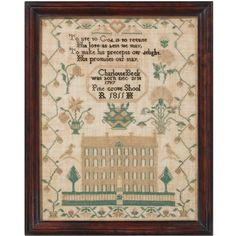 Excellent New Jersey Quaker Schoolgirl Sampler, Dated 1811 | From a unique collection of antique and modern more folk art at https://www.1stdibs.com/furniture/folk-art/more-folk-art/