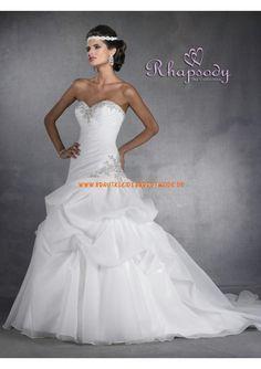 2013 Neue Brautkleider für Prinzessin aus Organza und Satin A-Linie mit Reifrock