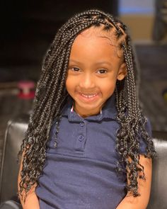 Is it cornrows braids or box braids or fishtail braids you like to have for your kids? Kids' braided hairstyles have evolved a lot with the passage of time. At present, the black kids use almost all k Black Kids Braids Hairstyles, Lil Girl Hairstyles, Black Girl Braided Hairstyles, Braided Ponytail Hairstyles, Fishtail Braids, Natural Hairstyles, Updo, Little Girl Box Braids, Kids Box Braids