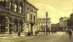 almelo, Wierdensestraat centrum rond 1900. In het midden hotel van Ouds de Prins.