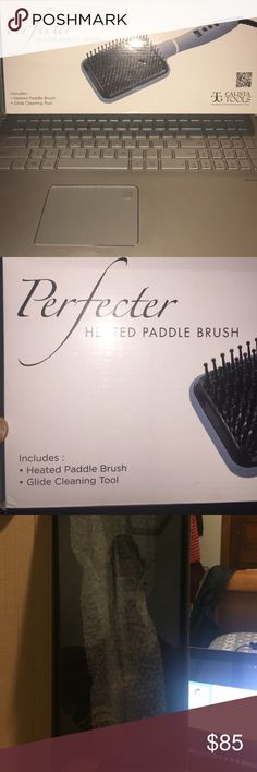 Calista Tools- Heated Paddle Brush Heated paddle brush! Straightening tool for all types of hair. I bought one and was sent a sent an extra one. I have corse curly hair and it works perfectly! This was opened in order to take pictures but has never been used!!!! Calista Tools Other