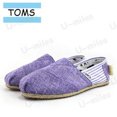 Toms Cordones Women Canvas Violet Split Joint Stripe