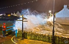 Another amazing shot by Pops at Nanny Moore's Bridge at Bude, north Cornwall tonight c/o Love Bude.#storm #waves