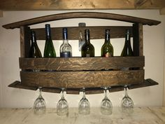 Wall Mount Wine Rack Wine Rack, Wall Mount, Barrel, Cabinet, Storage, Furniture, Products, Home Decor, Clothes Stand