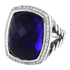Pre-Owned Albion Ring With Amethyst and Diamonds ($1,495) ❤ liked on Polyvore featuring jewelry, rings, purple, diamond rings, purple amethyst ring, statement rings, pre owned diamond rings and diamond jewelry
