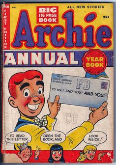 Archie Annual Year Book First Edition, Archie Comic Publications, Inc. https://www.pinterest.com/citygirlpideas/archie-comics/