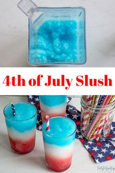 Easy Family Friendly of July Drink Recipe Fourth Of July Drinks, 4th Of July Desserts, 4th Of July Party, Non Alcoholic Drinks 4th Of July, July 4th, Alcoholic Shots, Alcoholic Desserts, Drinks Alcohol, Alcohol Recipes