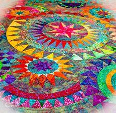 Jacqueline de Jonge be colorful | Colourful quilt (design by Jacqueline-de-Jonge)