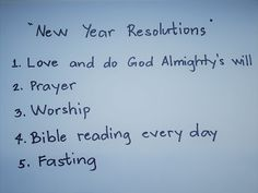 One Way to Grace: NEW YEAR RESOLUTIONS