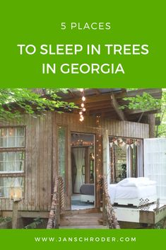 Get the ultimate back-to-nature experience by sleeping in a treehouse. One is #1Airbnb while another has an amazing bathroom where you can shower with a tree. #treehouses #georgia #unitedstatestravel #airbnbtreehouses #urbantreehouse #uniqueaccommodations #travel #sleepintrees #treehousetips #tipsfortreehousestay #dove #atlantaurbantreehouse