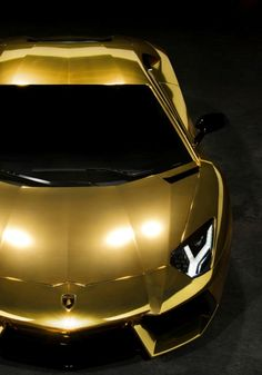 Beautiful gold Lamborghini #gold #lamborghini This is such a stunning supercar when it's gold