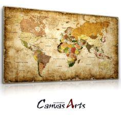 Details Zu Weltkarte 1601 Leinwand Bild Auf Keilrahmen Wandbild