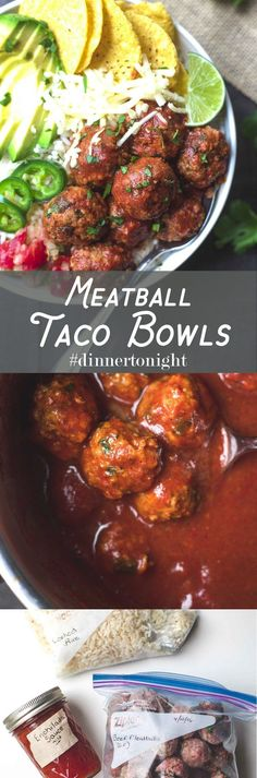 Meatball Taco Bowls- Fresh, fast, and loaded with flavor. One of our ...