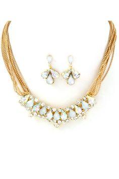 Juniper Necklace in Crystal Shimmer on Emma Stine Limited
