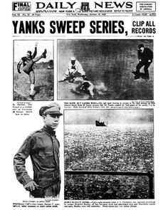 1928 World Series Yankees over Cardinals, 4-0 Stars: Babe Ruth and Lou Gehrig combined to go 16-for-27 (.593), smashed seven homers and drove in 13 runs (Ruth batted .625; Gehrig .545 with nine RBI, as many as the entire Cardinal team). Ruth hit three home runs in Game 4 and Gehrig hit two in Game 3 and four overall. Good thing those two were so prolific, because the rest of the team hit just .196. Synopsis: In Miller Huggins' last Series - he died during the '29 season - the Yanks became…