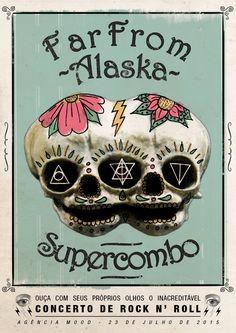 Far From Alaska & Supercombo - Gig Poster on Behance