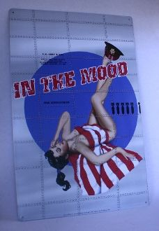"""Pin Up Army Sign. Metal, """"In the Mood"""". - Junk Drunk Jones"""