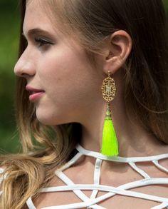 Tassel and Chain Drop Earrings $26