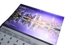 Wandkalender Classic Platinum mit Softtouch-Folie und metallisierter Folie