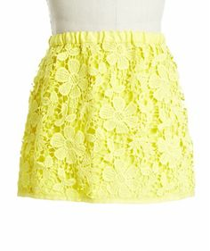 cute yellow skirt