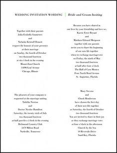Spanish wedding invitations wording wedding invitation wording wedding invitations samples wording from bride and groom filmwisefo
